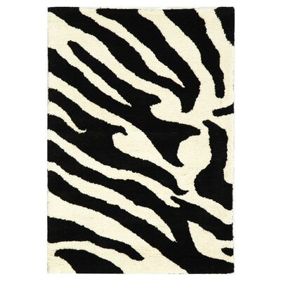 Dorthy White/Black Area Rug Rug Size: Rectangle 2' x 3'