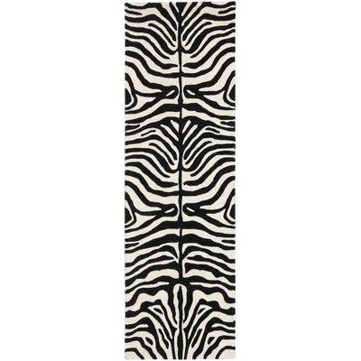 Argana Beige/Charcoal Area Rug Rug Size: Runner 26 x 8