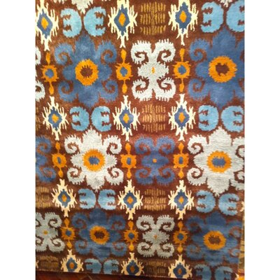 Dorthy Brown/Blue Rug Rug Size: Rectangle 76 x 96