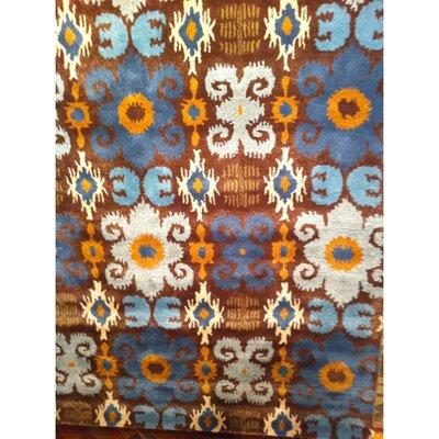 Dorthy Brown/Blue Rug Rug Size: Rectangle 83 x 11