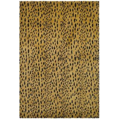 Argana Yellow/Black Area Rug Rug Size: 6 x 9