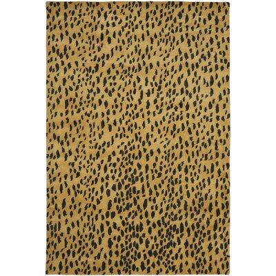 Dorthy Yellow/Black Area Rug Rug Size: 11 x 15