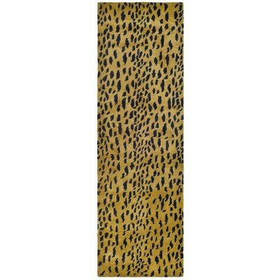Dorthy Yellow/Black Area Rug Rug Size: Runner 26 x 14