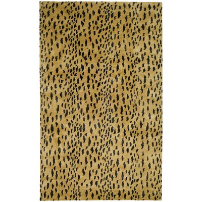 Dorthy Yellow/Black Area Rug Rug Size: 36 x 56