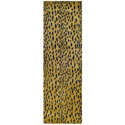 Dorthy Yellow/Black Area Rug Rug Size: Runner 26 x 8