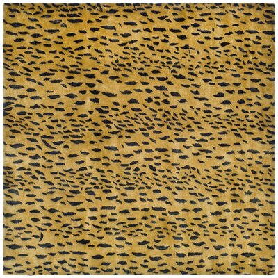 Dorthy Yellow/Black Area Rug Rug Size: Square 6