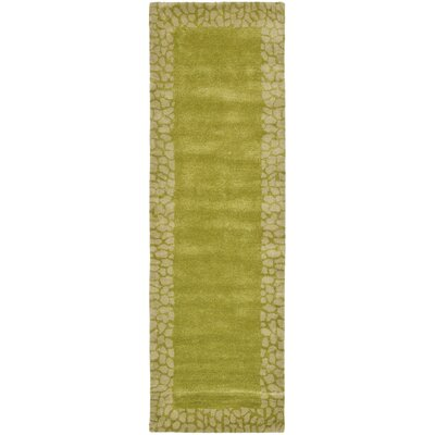 Dorthy Light Green Area Rug Rug Size: Runner 26 x 8