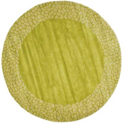 Argana Light Green Area Rug Rug Size: Round 6