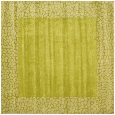 Dorthy Light Green Area Rug Rug Size: Square 6