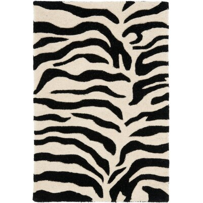 Dorthy Beige/Black Area Rug Rug Size: Rectangle 2 x 3