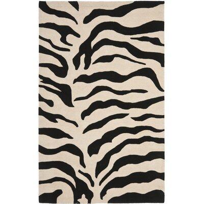 Dorthy Beige/Black Area Rug Rug Size: 5 x 8