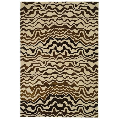 Dorthy Modern Beige/Brown Area Rug Rug Size: Rectangle 76 x 96