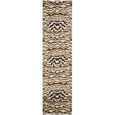Dorthy Beige/Brown Area Rug Rug Size: Runner 26 x 8