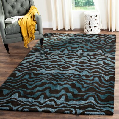 Dorthy Blue Area Rug Rug Size: Rectangle 76 x 96