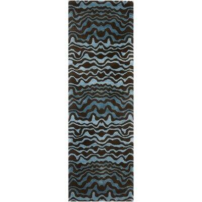 Dorthy Blue Area Rug Rug Size: Runner 26 x 8