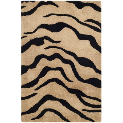 Dorthy Gold/Black Area Rug Rug Size: Rectangle 76 x 96
