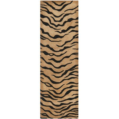 Dorthy Gold/Black Area Rug Rug Size: Runner 26 x 8