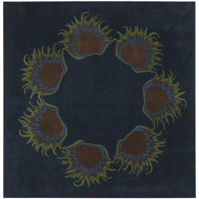 Dorthy Dark Blue Area Rug Rug Size: Square 76