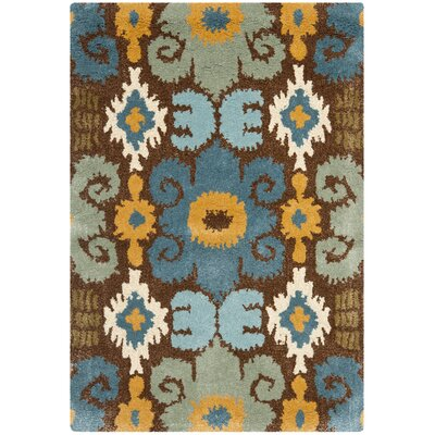 Dorthy Brown/Blue Rug Rug Size: 2 x 3