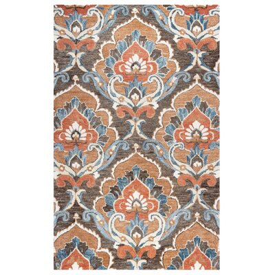 Acker Hand-Tufted Brown Area Rug Size: Rectangle 9 x 12