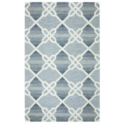 Amol Hand-Tufted Blue Area Rug Rug Size: Rectangle 5 x 8