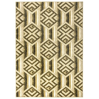 Parakh Ivory Area Rug Rug Size: Rectangle 67 x 96