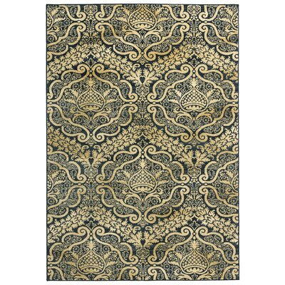 Parakh Black Area Rug Rug Size: Rectangle 53 x 77