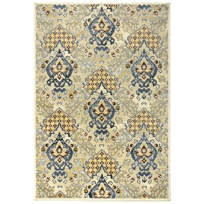 Parakh Khaki Area Rug Rug Size: Rectangle 53 x 77