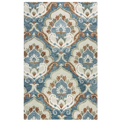 Acker Hand-Tufted Blue Area Rug Size: Rectangle 5 x 8