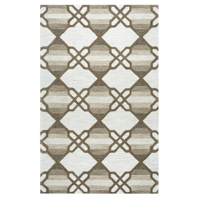 Amol Hand-Tufted Khaki Area Rug Rug Size: Rectangle 5 x 8