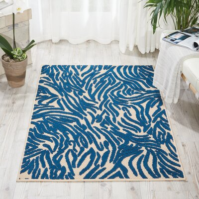 Gerdes Navy Indoor/Outdoor Area Rug Rug Size: Rectangle 28 x 4