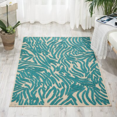 Gerdes Blue Indoor/Outdoor Area Rug Rug Size: Rectangle 36 x 56