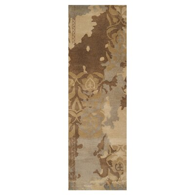 Brees Gray/Beige Area Rug Rug Size: Runner 26 x 8
