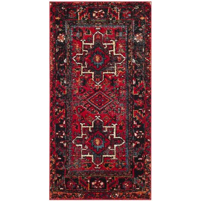 Barrera Red/Black Area Rug Rug Size: Rectangle 53 x 76
