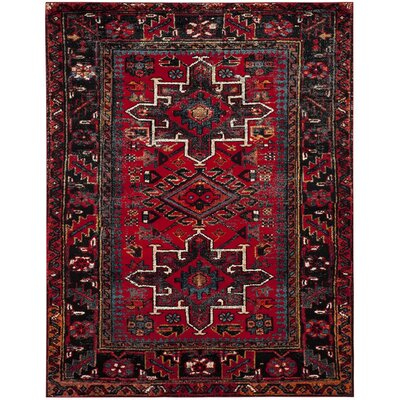Barrera Red/Black Area Rug Rug Size: Rectangle 67 x 9