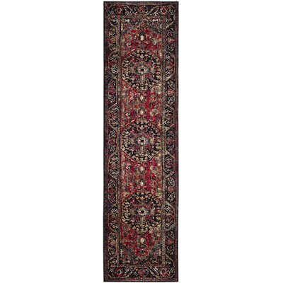 Mccall Red/Black Area Rug Rug Size: Runner 22 x 8