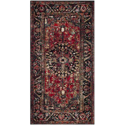 Mccall Red/Black Area Rug Rug Size: Rectangle 4 x 6