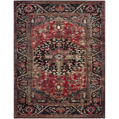 Mccall Red/Black Area Rug Rug Size: Rectangle 9 x 12