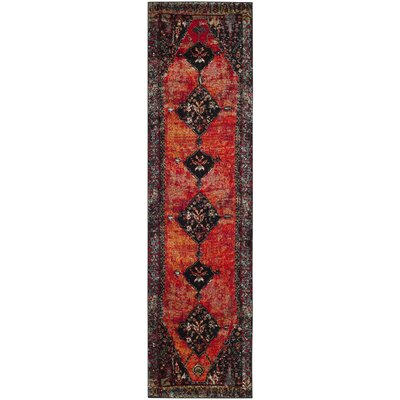 Rangel Orange Area Rug Rug Size: Runner 22 x 16