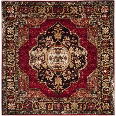 Byron Red Area Rug Rug Size: Square 67
