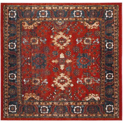 Parthenia Orange/Blue Area Rug Rug Size: Square 67