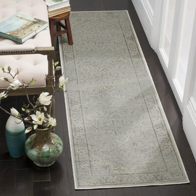 Franzen Light Blue Area Rug Rug Size: Runner 22 x 8