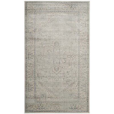 Emily Light Blue Area Rug Rug Size: Rectangle 33 x 57