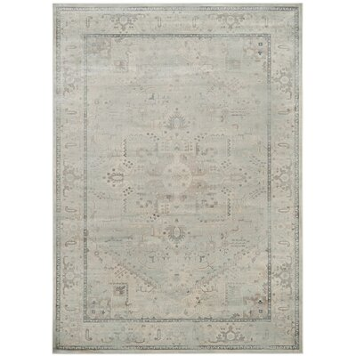 Emily Light Blue Area Rug Rug Size: Rectangle 53 x 76
