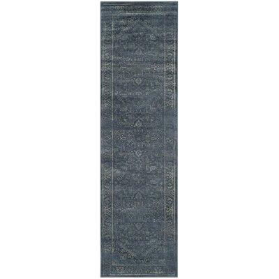 Emily Blue Area Rug Rug Size: Runner 22 x 8