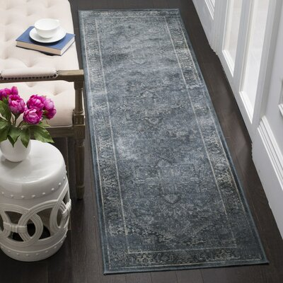 Emily Blue Area Rug Rug Size: Rectangle 33 x 57