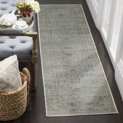 Emily Traditional Light Blue Area Rug Rug Size: Rectangle 53 x 76
