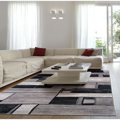 Archer Oblong Blocks Charcoal/Gray Area Rug Rug Size: 79 x 99