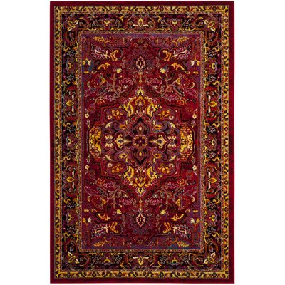 Antoine Red/Fuchsia Area Rug Rug Size: Rectangle 3 x 5