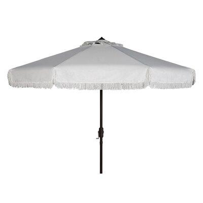 Greenberry 8 Octagonal Fringe Crank Drape Umbrella